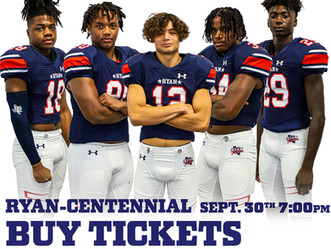 THIS WEEK'S GAMES TICKET INFORMATION 9/27