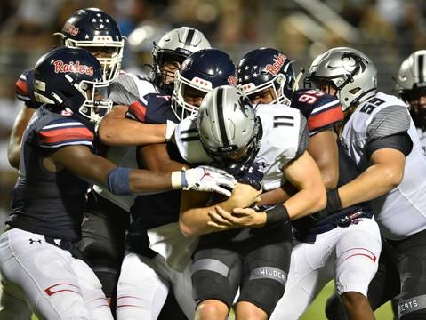 Guyer hands Raiders first regular season loss since 2014