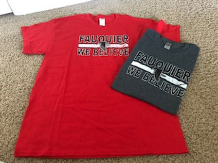 Short Sleeved Crewneck Tee in Red or Grey