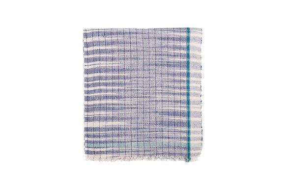 COTTON KHADI TOWEL- BLUE