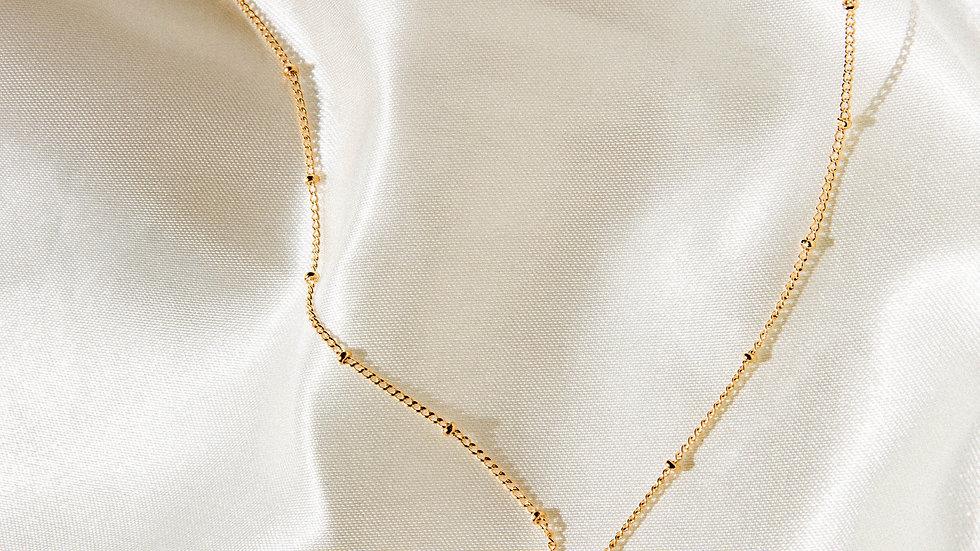 Gold Vermeil Malachite Necklace