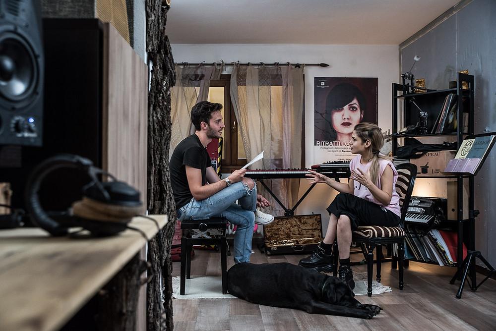 Beatrice Antolini durante l'intervista per Rockography.
