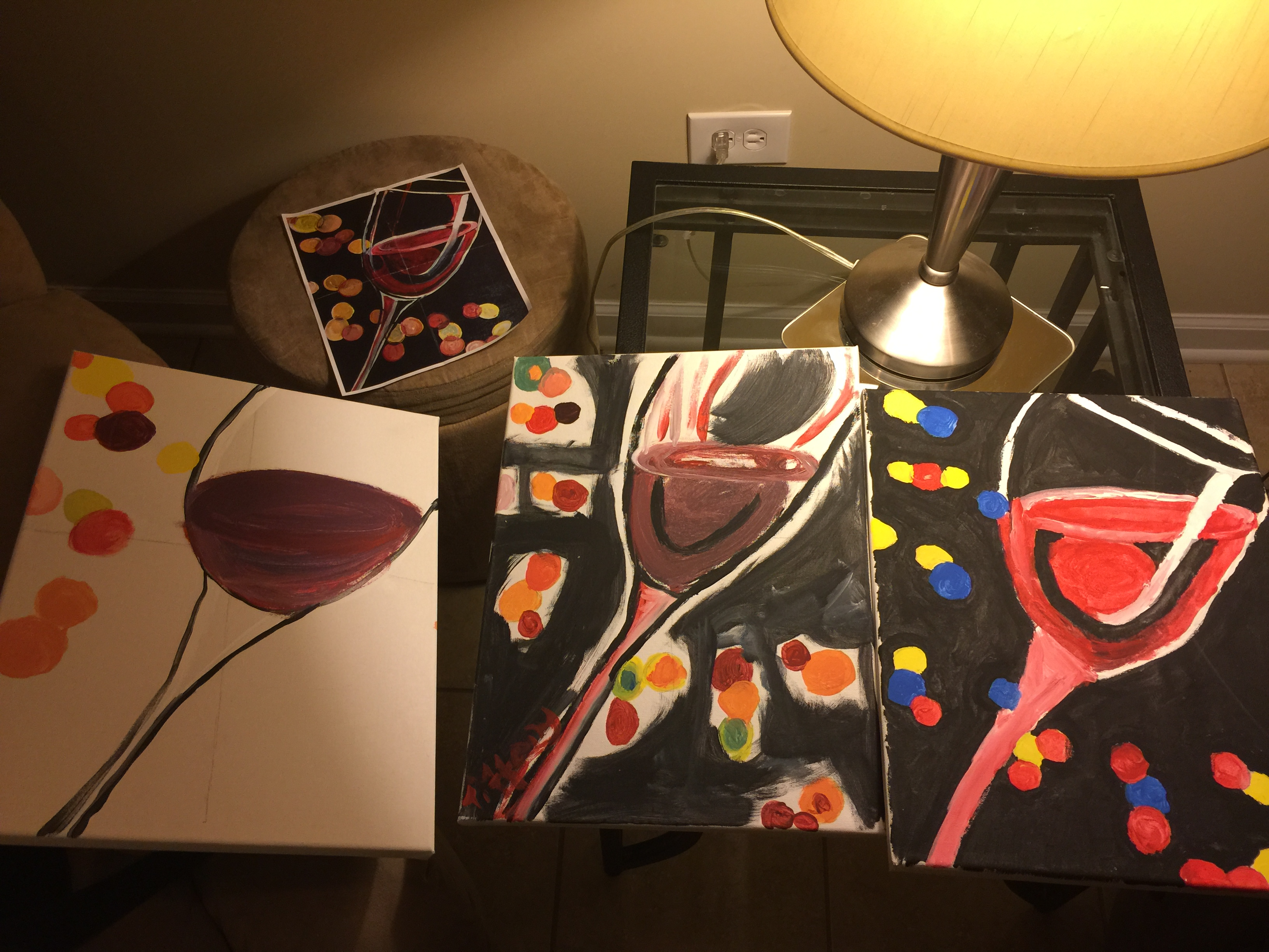painting Wine glasses