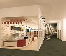 עיצוב חנויות ומסעדות הדמיה זאב מוסקוביץ.