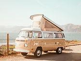 Vintage Beżowy Van