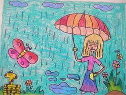 Kid's Drawing  Rain