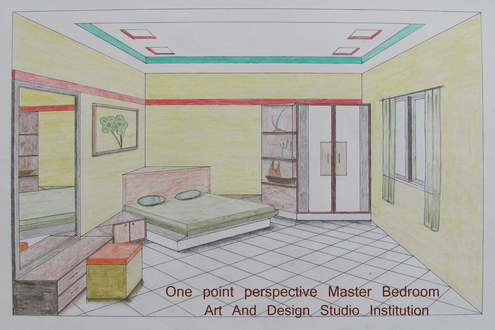 One point perspective Master Bedroom 1.j