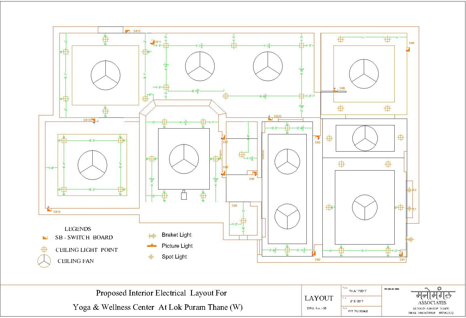 Electrical Layout for Yoga Center Tapova