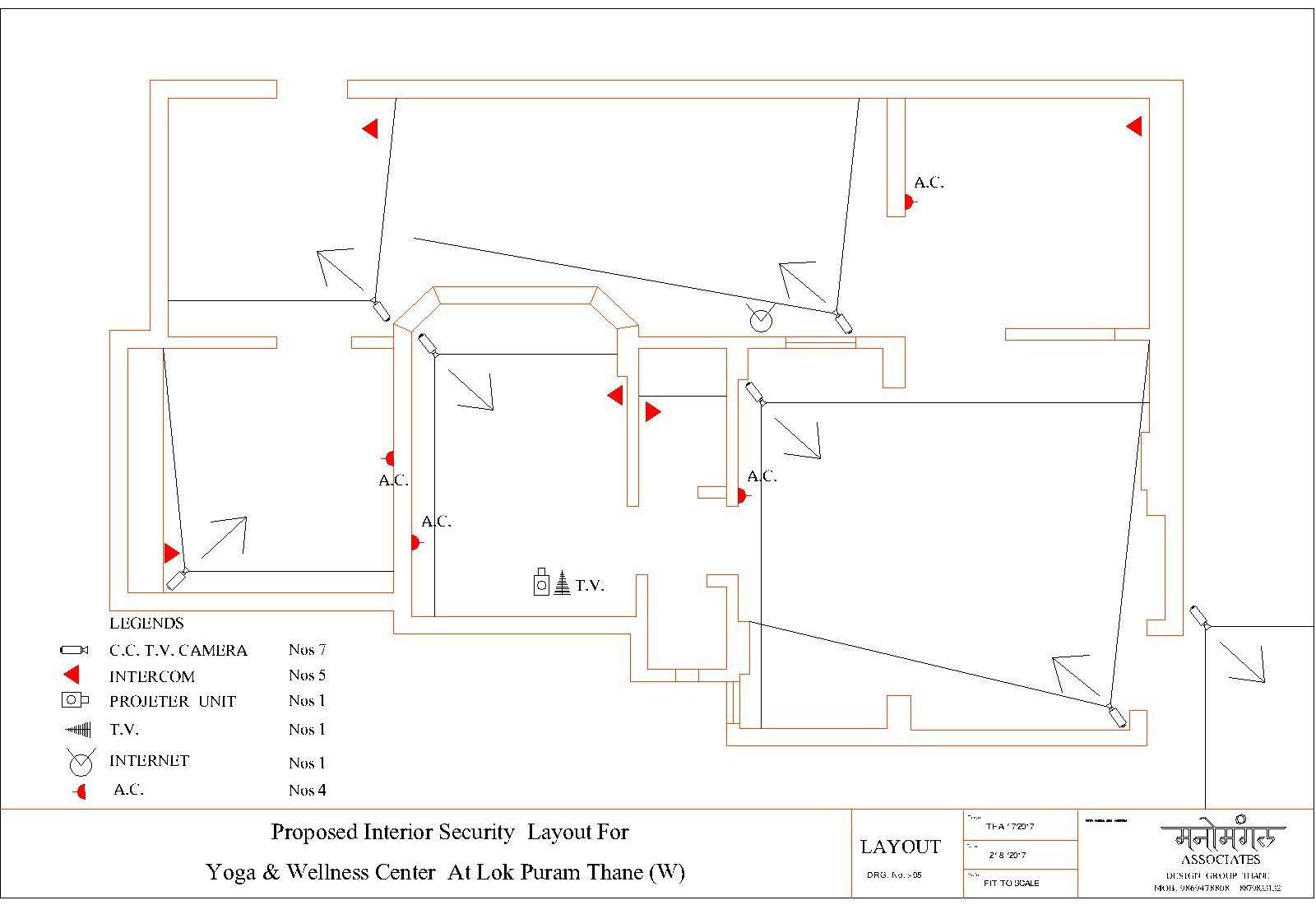 Security Layout  For Yoga Center Tapovan