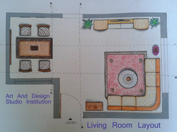 Living Room  Layout , student work