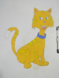 Kid's Drawing  Cat