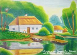 landscape drawing & landscape Painting
