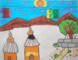 village, kids subject drawing
