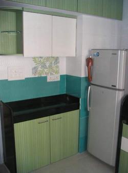 Green  Colour Kitchen Modern Design, Nit