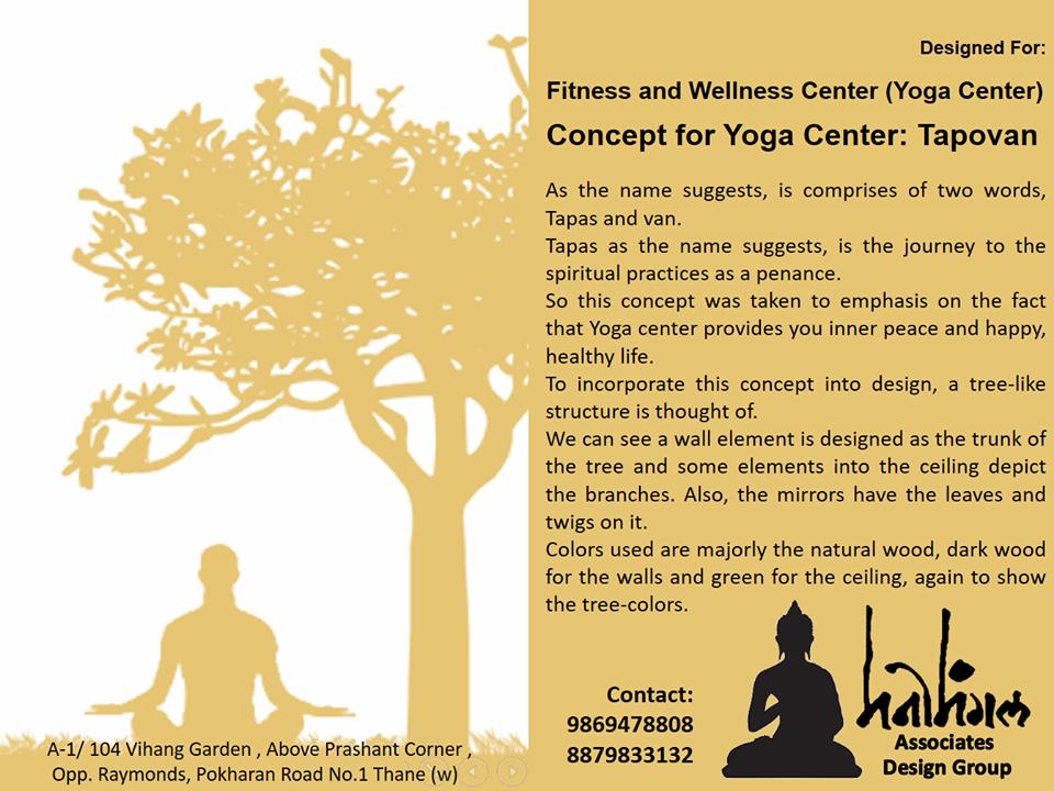 Concept for Yoga Center Tapovan in Thane