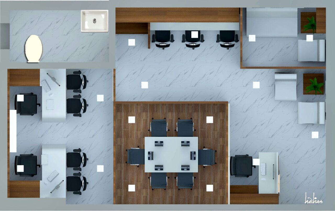 Interior Furniture Layout for Office  1.