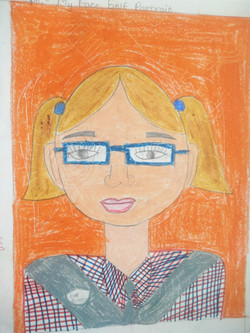 self  portrait , my face ,