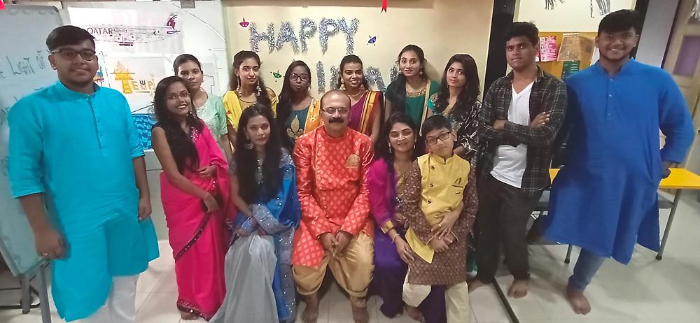 Student of Art and Design  Studio Institutions celebrating  Pre Diwali Celebration
