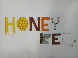 Honey Bee Lettering