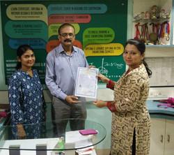 certificate , certificate Interior Desig