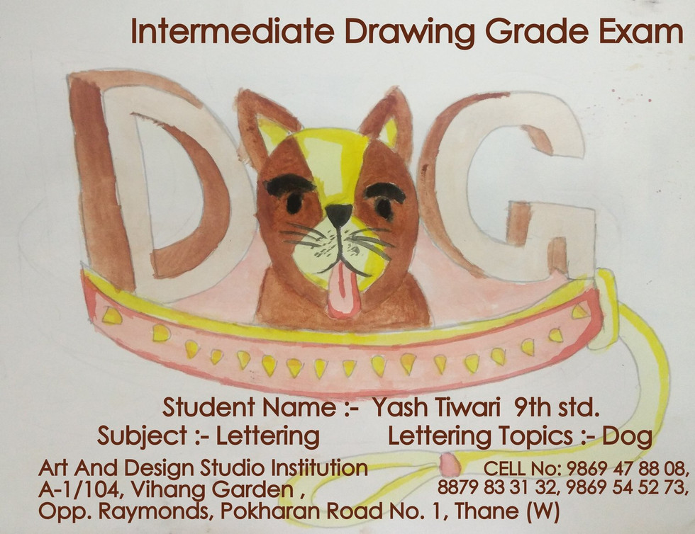dog Lettering Temple Elementary & Interm