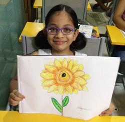 Rutvi Chopde Kid Drawing Work,