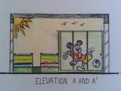 Children Bedroom Elevation _1