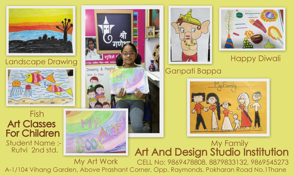 Rutvi Chopde , Kid Drawing Work ,First D
