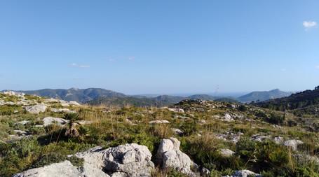 En haut des montagnes à  Majorque