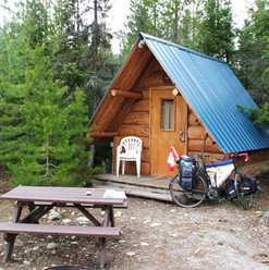 A tiny cabin in the mountains