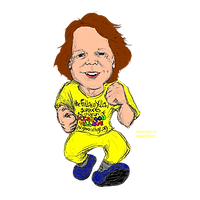 Fellow in Yellow Caricature Colored for
