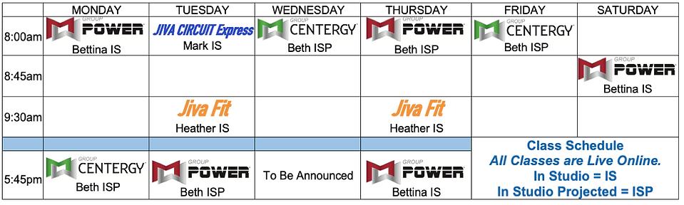 Jiva schedule July 21.png