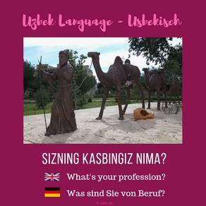 Uzbek: profession / Usbekisch: Beruf