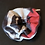 Thumbnail: Haargummi schwarz weiss rot