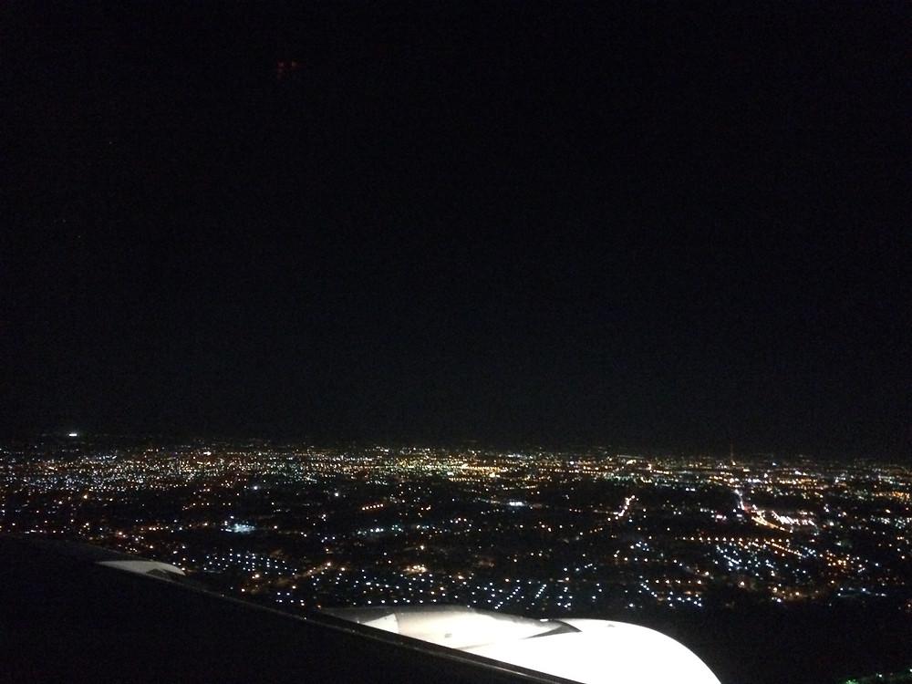 Blick aus dem Flugzeug auf Taschkent