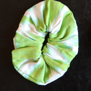 Haargummi grün weiss