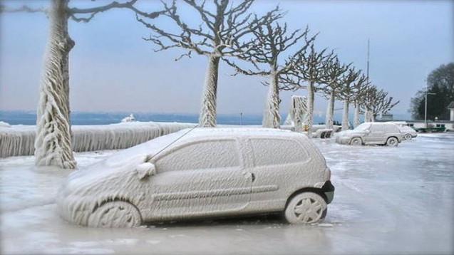 Extrem kaltes Gefrieren alles in vielen Gebieten in China