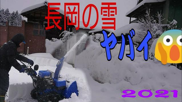 Neujahr-Schneefall 2021 Stadt Nagaoka, Präfektur Niigata!