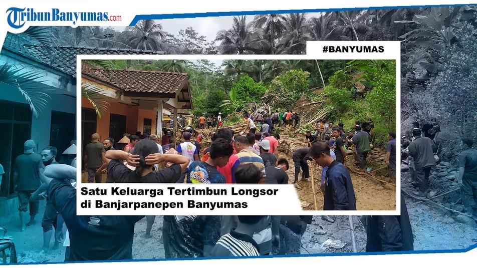 Eine Familie durch Erdrutsche in Banjarpanepen Banyumas begraben
