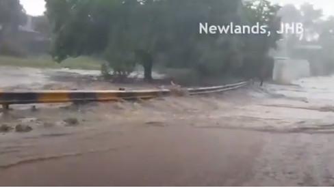 Gauteng-Überschwemmungen - Schlechtes Wetter und schwere Gewitter