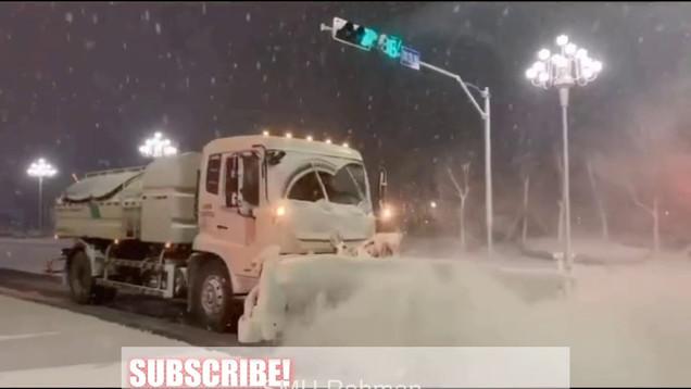 Massiver Schneesturm trifft China