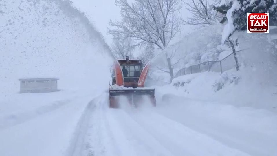 Jammu-Srinagar National Highway: Starker Schneefall führt zur Sperrung der Straßen
