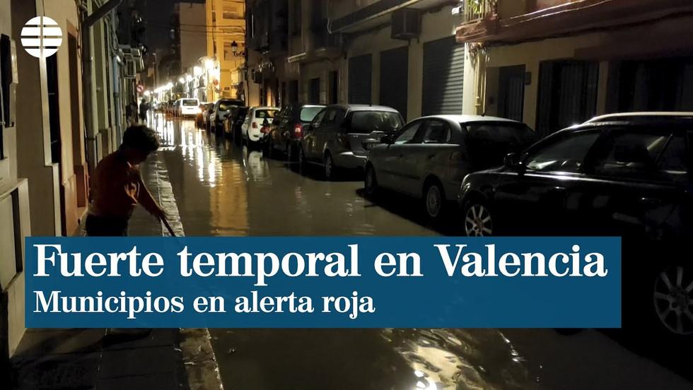 Überschwemmungen in der valencianischen Gemeinschaft aufgrund starker Regenfälle