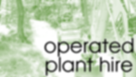 Operated Plant Hire