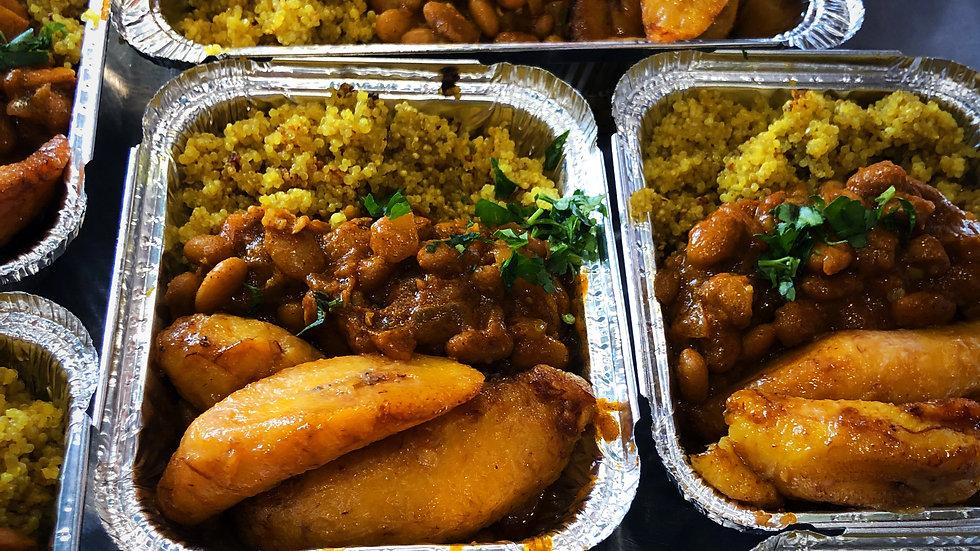Adobo beans, turmeric quinoa & plantains