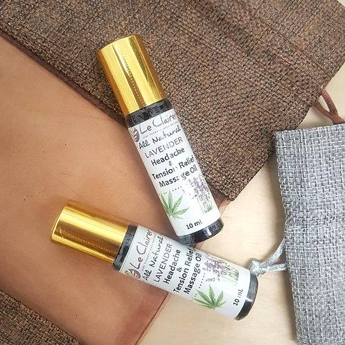 Lavender Headache & Tension Relief Massage Oil