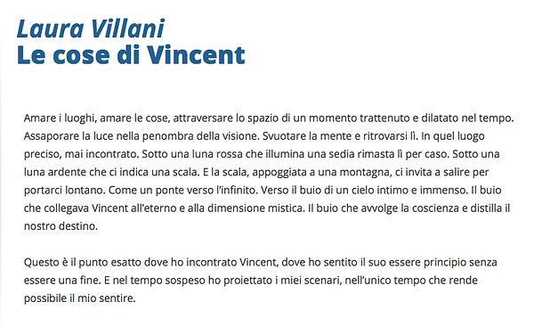 Le cose di Vincent. Laura Villani