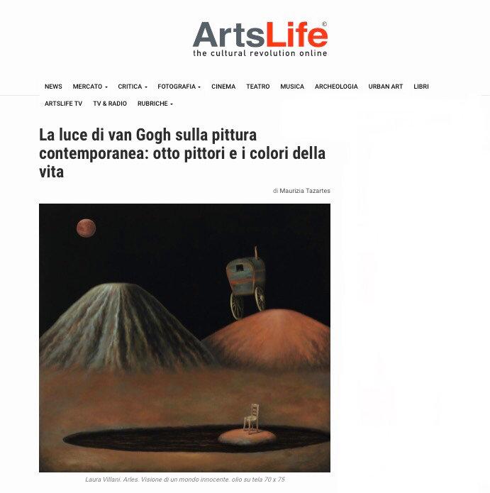 Laura Villani articolo ArtsLife