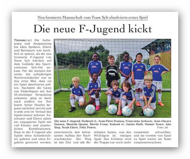 Die neue F-Jugend kickt