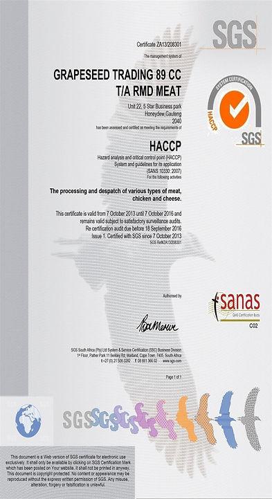HACCP, sanas